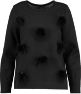 Mother of Pearl Edith pompom-embellished cotton-blend neoprene sweatshirt