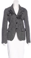 Comme des Garcons Wool Ornate-Patterned Blazer