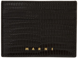 Marni Black Snake Vanitosi Card Holder