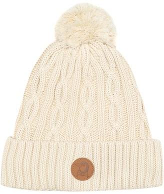 Mini Rodini Penguin cable-knit cotton beanie