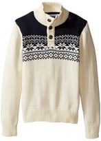 Tommy Hilfiger Dayton Button Mock Neck Sweater (Toddler/Little Kids)