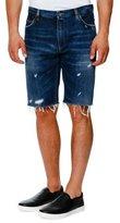 Dolce & Gabbana Distressed Denim Shorts, Dark Blue