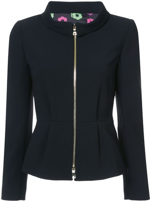 Boutique Moschino Zip-Up Fitted Jacket
