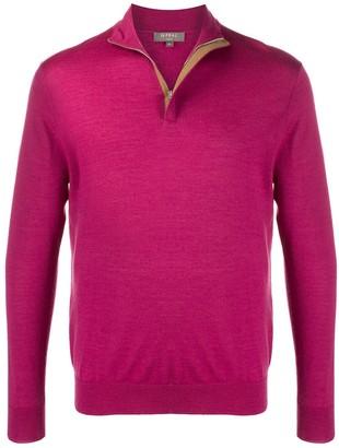 N.Peal Zipped Rib Knit Sweater