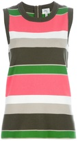 Milly Sleeveless striped top