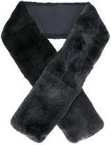 N.Peal rabbit fur long scarf