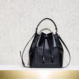 Maje Large bucket bag with v quilted pocket