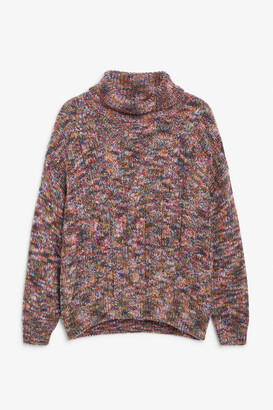 Monki Heavy knit turtleneck sweater