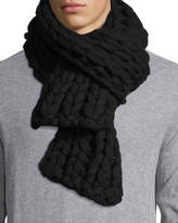 Il Borgo Men's Chunky Knit Cashmere Scarf