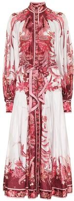 Zimmermann Wavelength silk-twill midi dress