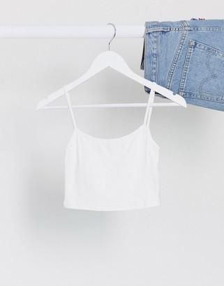 Bershka strappy cami in white