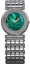 Jowissa Women's J3.033.M Elegance Stainless Steel Green Mother-Of-Pearl Dial Mineral Glass Watch