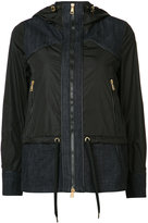 Moncler hooded denim patch jacket - women - Cotton/Polyimide - 0