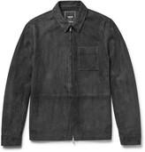 Todd Snyder Suede Shirt Jacket - Dark gray