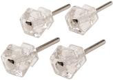 Rejuvenation Set of 4 Hexagonal Glass Knobs