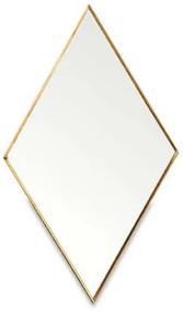 Nkuku Kiko Diamond Mirror - Antique Brass - Large