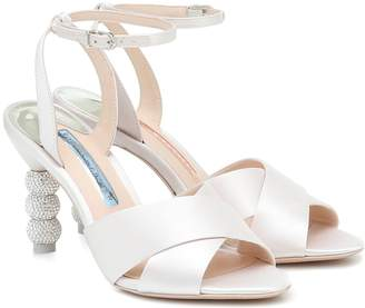 Sophia Webster Natalia 85 satin bridal sandals