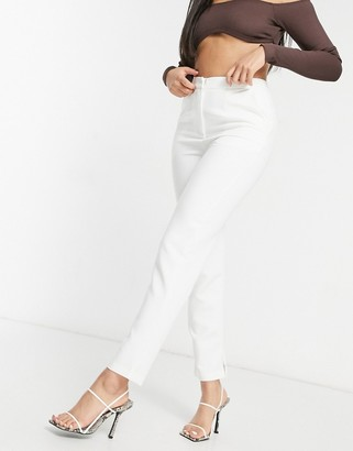 Club L London tailored cigarette pants in white