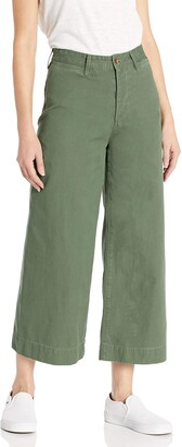 EVIDNT Women's Wide Leg Crop Chino Pants