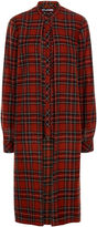 Rosetta Getty Red Tartan Longline Shirt