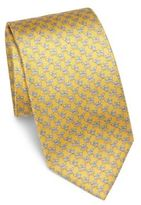 Salvatore Ferragamo Dog Printed Silk Tie