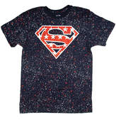 Novelty T-Shirts Superman American Logo Graphic Tee