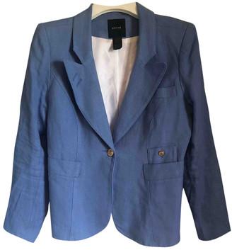 Smythe Blue Linen Jacket for Women