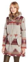 BB Dakota Women's Dalley Tribal Pattered Hooded Coat