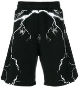Marcelo Burlon County of Milan Men's Black Cotton Shorts.