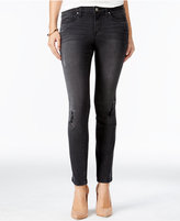 Jessica Simpson Forever Ripped Black Wash Skinny Jeans