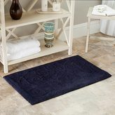 Safavieh Spa 2400 Gram Scrolls Navy 27 x 45 Bath Rug (Set of 2)
