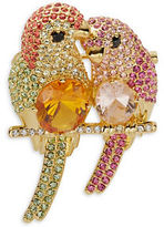 Nadri Love Bird Pin