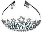 Funi Star Rhinestone Headband Pin Happy Birthday Girls Comb Hair Clip Tiara Headpiece