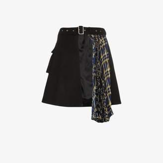 Blindness asymmetric pleated skirt