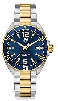 Tag Heuer Women's Formula 1 41mm Stainless Steel & Yellow Goldplated Quartz Bracelet Watch