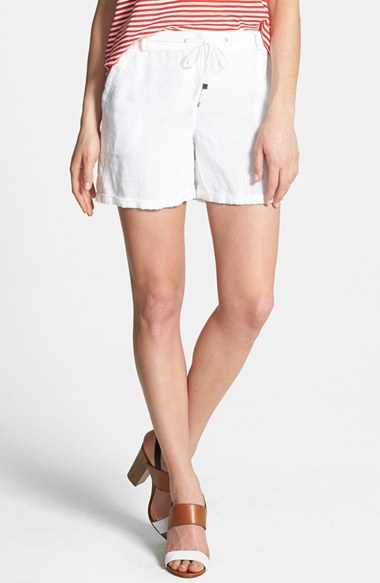 Vince Camuto Two by Drawstring Linen Shorts