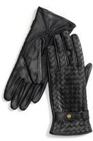 Tommy Hilfiger Textured Leather Gloves