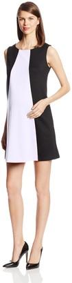 Maternal America Women's Maternity Sleeveless Colorblocked Shift Dress