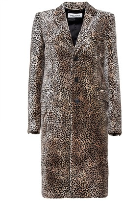 Saint Laurent chesterfield Coat With Mini Leopard Print