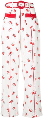 Alice McCall Lips print trousers
