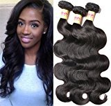 Connie 3 Bundles of Malaysian Hair Body Wave Grade 5A Unprocessed Human Hair Weave Weft Mixed Length 16 18 20 Natural Color Tangle-free