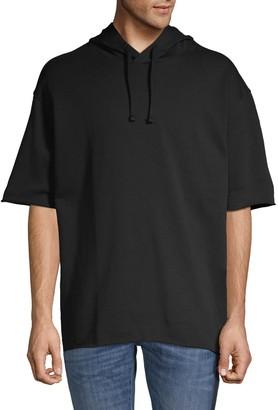 HUGO Short-Sleeve Cotton Hoodie