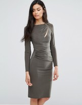 Love Long Sleeve Slash Dress