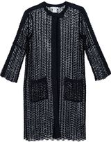 Oscar de la Renta sequined open knit coat