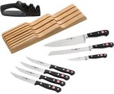 Wusthof Classic In-Drawer Knife Set - 9-Piece, Tray, Sharpener