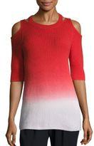 Zoe Jordan Aristotle Ombre Cold-Shoulder Sweater