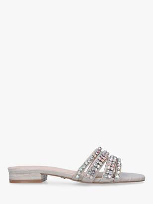Carvela Galore Embellished Flat Sandals, Grey