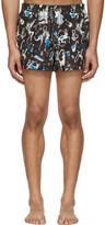 Dolce & Gabbana Black Jazz Musician Swim Shorts