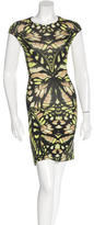 McQ by Alexander McQueen Butterfly Bodycon Dress