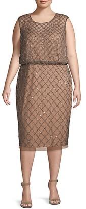 Adrianna Papell Plus Sequin Sleeveless Dress